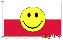 POLAND SMILEY FACE ANYFLAG RANGE - VARIOUS SIZES